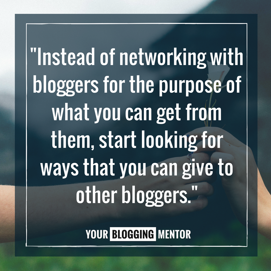 Blogger networking ...