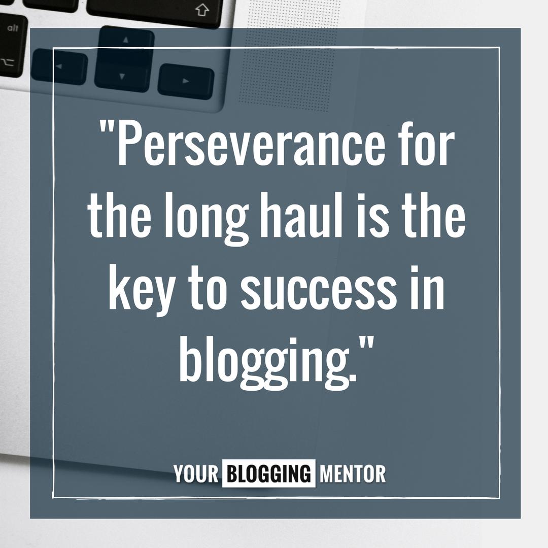 Success in blogging ...