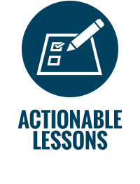 Actionable Lessons