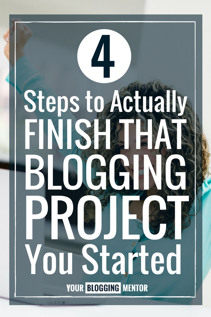 Check out these 4 steps that have helped me stay on task with my blogging projects!
