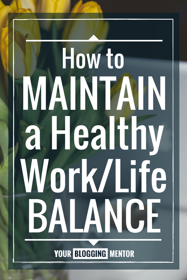 Maintaining a healthy work/life balance isn't easy. Here are some tips to help you keep the balance and enjoy both!