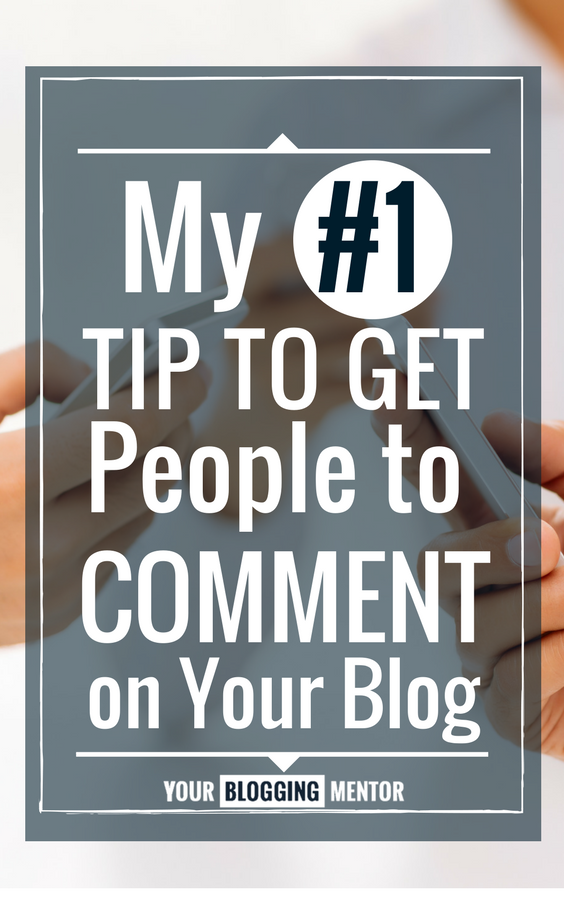 Getting people to comment on your blog can be tough -- even frustrating at times! Find out my #1 tip for getting your readers to leave comments and engage!