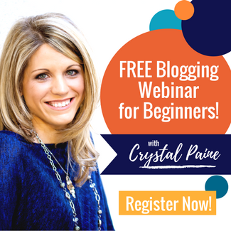 Learn to blog with Crystal Paine