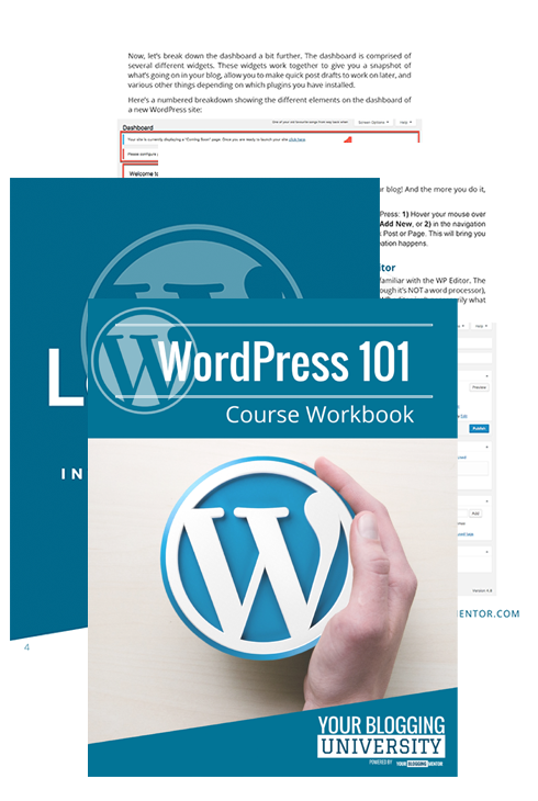 WordPress 101 Workbook