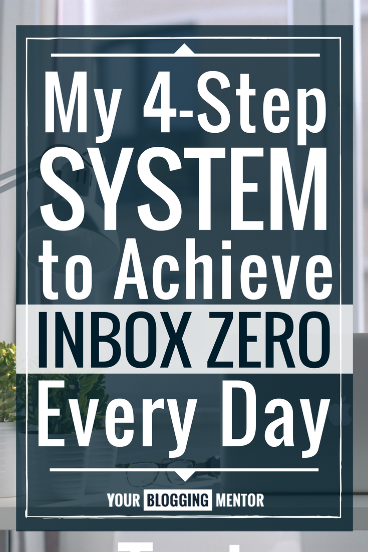 Overwhelmed by and overflowing email inbox? Here's my 4-step system to achieve Inbox Zero almost every single day!
