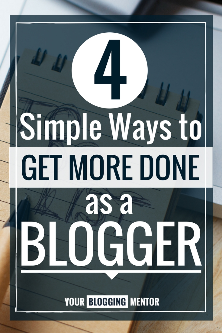 Struggling to keep up with all of the responsibilities involved with blogging? Here are 4 simple ideas to implement!