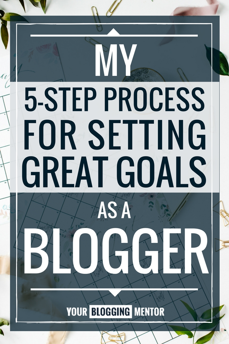 Need help setting realistic blogging goals? Here's help with my 5-step process to great goal setting!