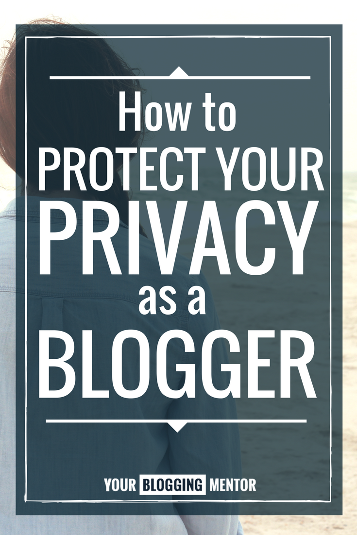 Protecting my privacy as a blogger is SO important to me. This is great!