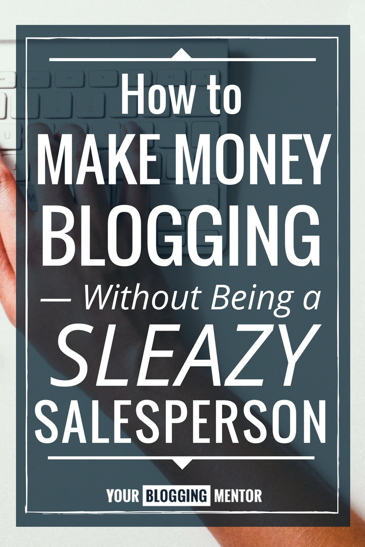 THANK YOU! I'm so glad someone finally touched on marketing and morals in blogging. These are two really great pieces of advice to make money as a blogger without sacrificing your morals.