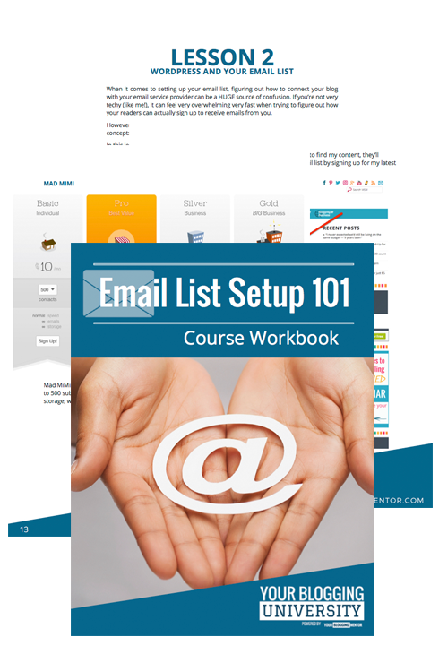 Email List Setup 101 Workbook