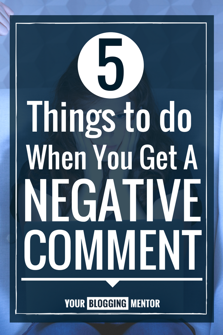 What an honest, genuine approach to dealing with negative blog comments!