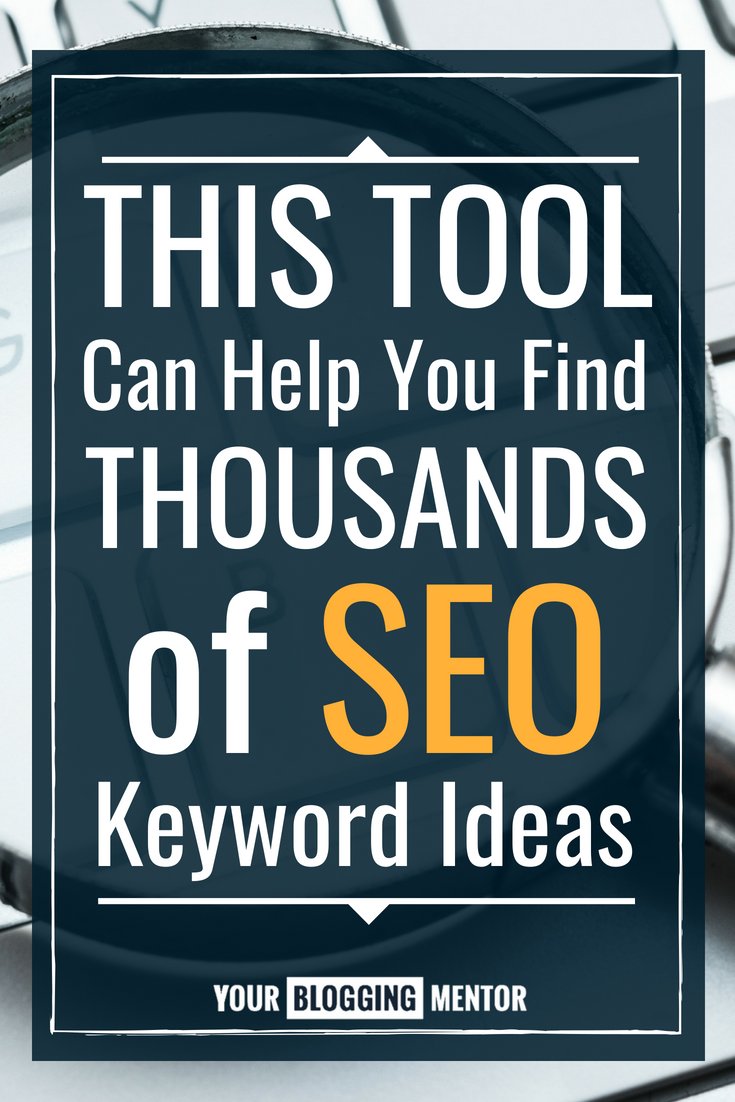 GREAT tool! Coming up with SEO keyword ideas can be hard. This tool changes everything!