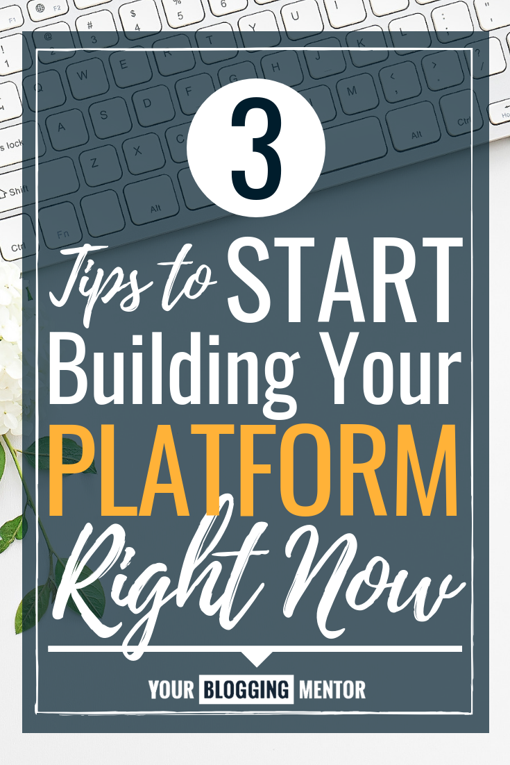 Ever wondered what an online platform is and why you need one? Read this to find out, plus learn my top 3 tips to start building your platform right away!