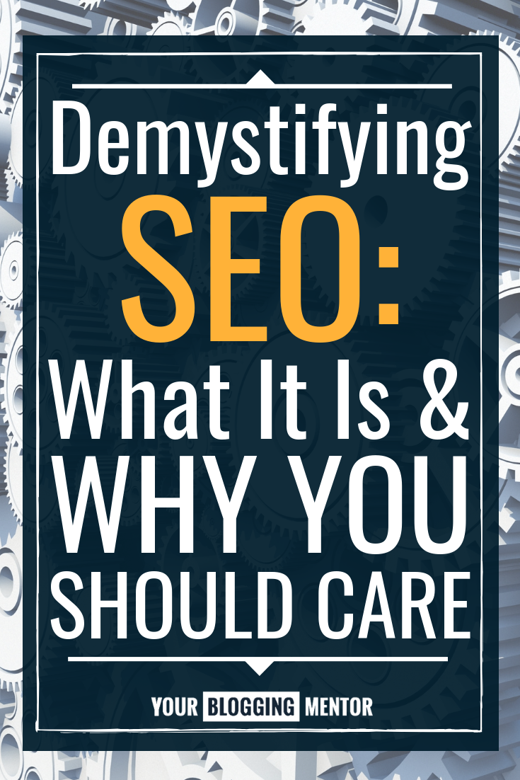 Does the word SEO have your head spinning? Then you won't want to miss this easy beginner's guide to SEO, made just for you! #blogging #SEO #momblog #yourbloggingmentor