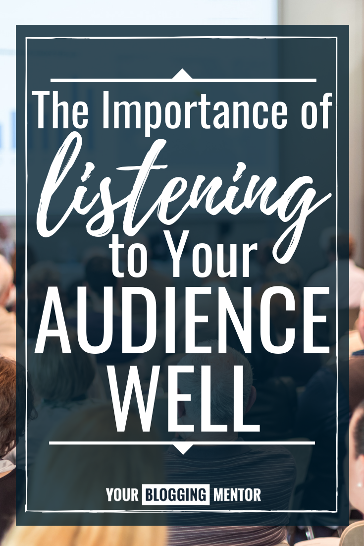 Listening to your audience is SO important when you're running an online business and trying to serve your followers well! Here's why!