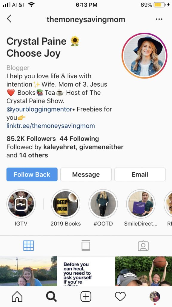 TheMoneySavingMom Instagram Profile