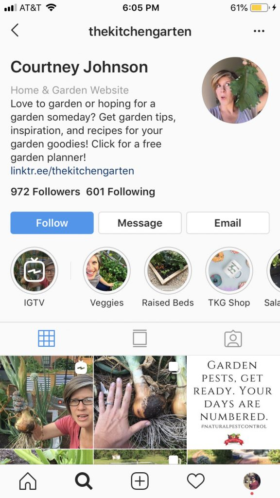 TheKitchenGarten Instagram Profile