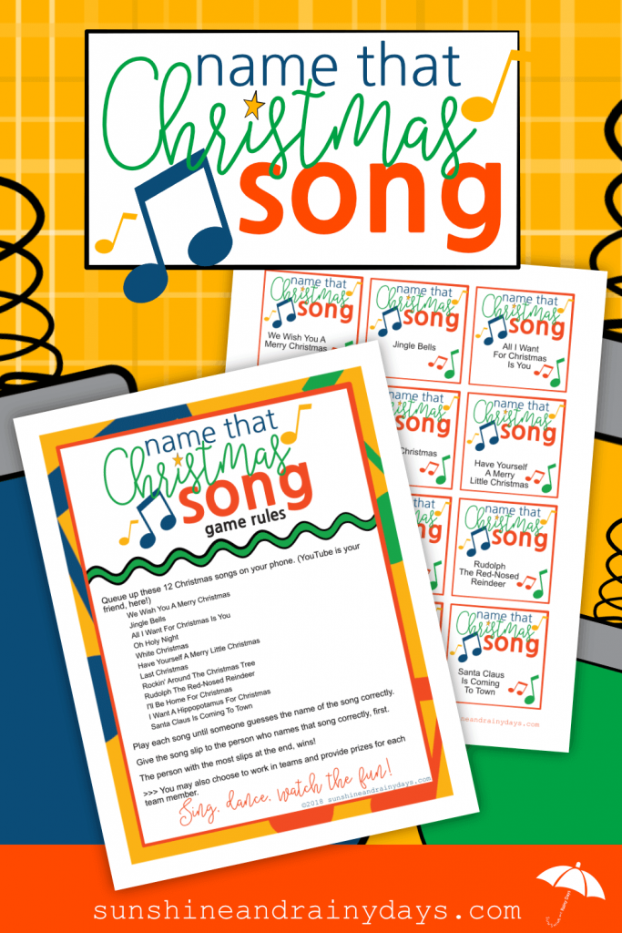 Name That Christmas Song Printable