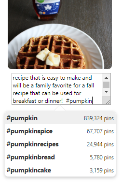 using Pinterest hashtags